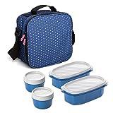 TATAY Urban Food Casual  - Bolsa térmica porta alimentos  con 4 tapers herméticos incluidos, 3 litros de capacidad,...