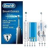 Oral-B Smart 5000 Estación de Cuidado Bucal: Mango de Cepillo Eléctrico + Oxyjet Irrigador con Tecnología Braun, 4...