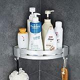Hoomtaook Accesorios Baño Sin Taladro Estantería de Esquina para Baño Ducha, Pegamento Patentado + Autoadhesivo,...
