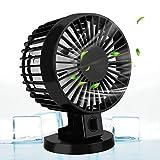 Aodoor Ventilador De Mesa, Ordenador Portátil Pequeño Ventilador Recargable Mini USB Fan en Casa y Actividades al Aire...