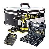 STANLEY FATMAX FMCK625D2F-QW - Taladro percutor 18V, 27.200 ipm, con 2 baterías de litio 2Ah, set de 50 acc y maletín...