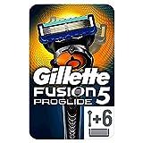 Gillette Fusion5 ProGlide - Maquinilla de Afeitar con 6 Recambios, Paquete Apto para el Buzón de Correos