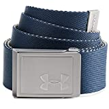 Under Armour Men's Webbing 2.0 Belt Cinturón, Hombre, Azul (408), Talla Única