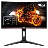 "AOC C24G1 - Monitor Gaming Curvo de 24"" con Pantalla Full HD e-Sports (VA, 1ms, AMD FreeSync, 144Hz, Sin Marco,..."