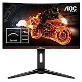"AOC C24G1 - Monitor Gaming Curvo de 24"" con Pantalla Full HD e-Sports (VA, 1ms, AMD FreeSync, 144Hz, Sin Marco,..."