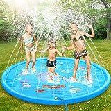 Dookey Splash Pad, Aspersor de Juego, Jardín de Verano Juguete Acuático para Niños Pulverización para Actividades...