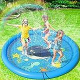 Peradix Splash Pad,170CM Aspersor de Juegos de Agua para Niños PVC Splash Play Mat Almohadilla de Juego de Agua para...