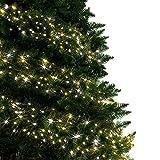 Árbol de Navidad Luces 500 LED 12.5m Blanco cálido Luces interiores/exteriores Decoraciones Luces de cuerda de hadas...
